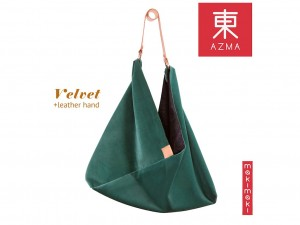 AZMA Velvet Teal Green bag