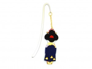Bookmark Maiko - navy blue obi