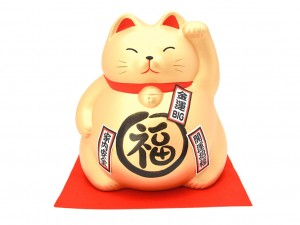 Large Maneki Neko moneybox - Wealth [ Japan gift ]