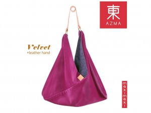 AZMA Velvet Cashmere Rose bag