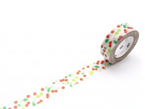 Taśma washi masking tape mt - Cherries