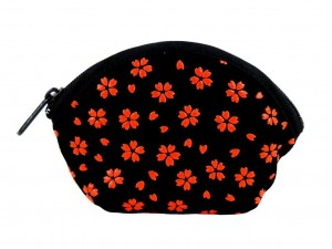 Coin purse with zipper Aka Sakura
