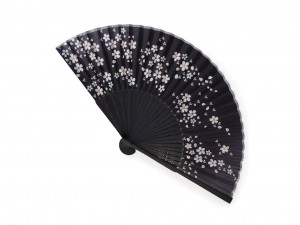 Fan - Sakura black