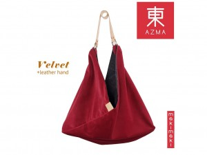Torba AZMA Velvet Crimson Red