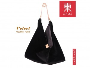 AZMA Velvet Absolute Black bag