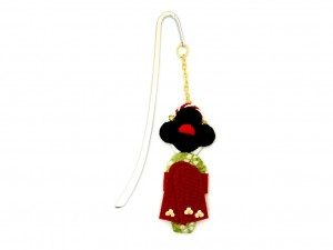 Bookmark Maiko - red obi