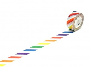 Taśma washi masking tape mt - Colorful Stripe [ Japonia prezent ]