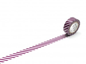 Taśma washi masking tape mt - Stripe Purple [ Japonia prezent ]