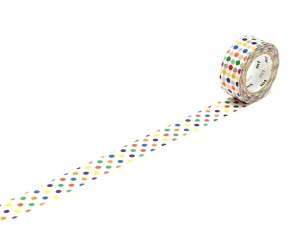 Taśma washi masking tape mt - Colorful Dot