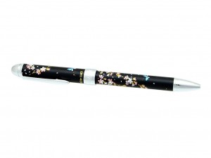 Ballpen/pencil maki-e black - Sakura
