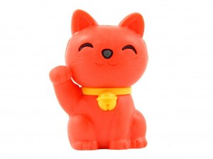 Eraser - red maneki neko