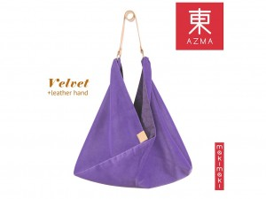 AZMA Velvet Lavender bag [ Japan gift ]