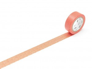 Taśma washi masking tape mt - Samekomon Red