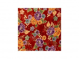 Furoshiki Red Flowers L