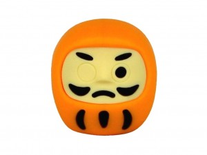 Eraser - yellow daruma [ Japan gift ]