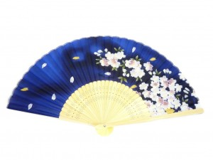 Fan - Sakura navy