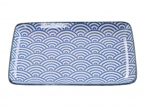 Plate Nippon Blue Nami [ Japan gift ]