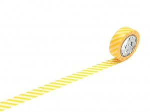 Taśma washi masking tape mt - Stripe Yellow